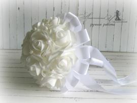 Букет-дублер Нежность - подарок ручной работы на свадьбу Беларусь.