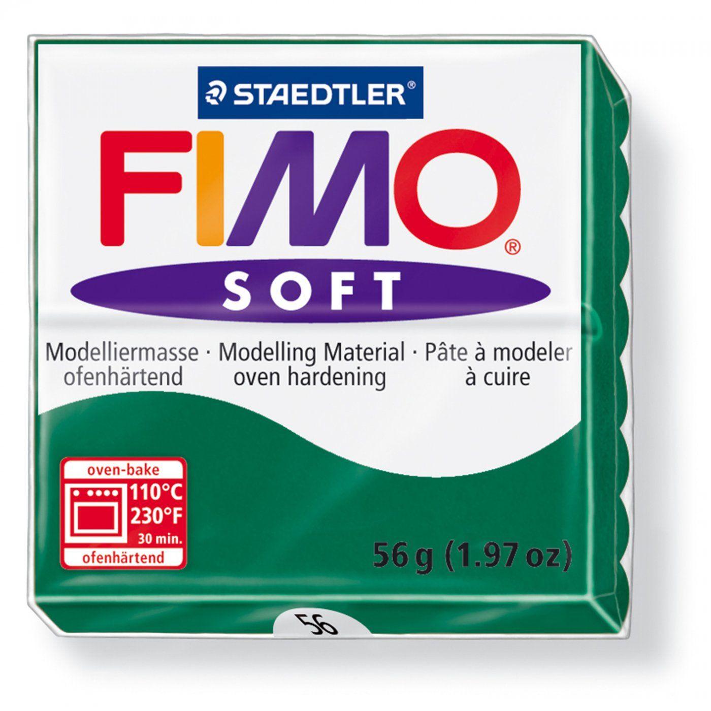 Запекаемая полимерная глина FIMO Soft Изумрудный 8020-56 (57гр)