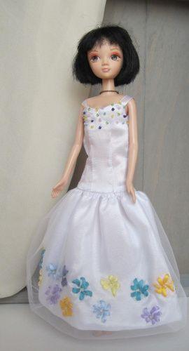 Платье для куклы Белое в Stranamasterov.by Беларусь.