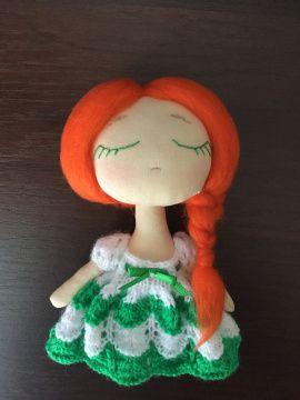 Текстильная куколка Сплюшка Рита в Stranamasterov.by Беларусь.