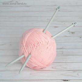 Спицы для вязания, прямые, с тефлоновым покрытием, d = 10мм, 35см, 2шт, АРТ УЗОР Россия.