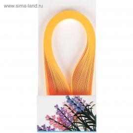 """Полоски для квиллинга """"Ярко-оранжевые"""" набор 120 полосок ширина 1см длина 39см Россия."""