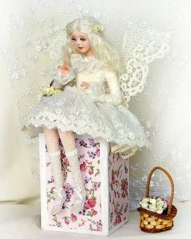 Авторская кукла Ангел с розами в Stranamasterov.by Беларусь.