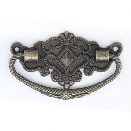 Ручка декоративная для шкатулок 37*72мм, 2шт бронза Россия.