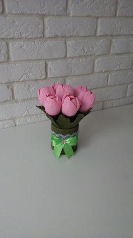 Букет из конфет Розовое счастье в Stranamasterov.by Беларусь.