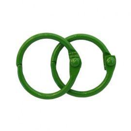 Кольца для альбомов 20мм, упаковка 2шт,., зеленый, ARS2091, АСТРА Россия.