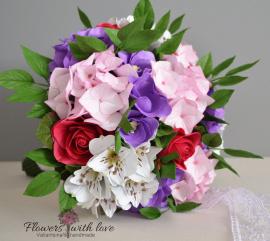 Букет невесты - подарок ручной работы на свадьбу Беларусь.