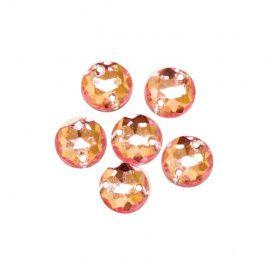 Стразы пришивные, акрил, 8мм, упаковка 20шт, 03 светло-розовый, круглые, АСТРА Россия.