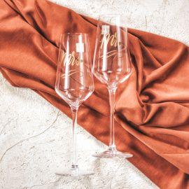 Бокалы для шампанского Именные бокалы - подарок ручной работы на свадьбу Беларусь.