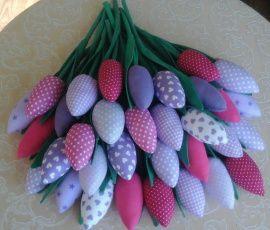Текстильные тюльпаны Весенний колорит в Stranamasterov.by Беларусь.