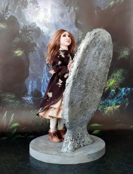 Кукла из полимерной глины Зеркала в Stranamasterov.by Беларусь.