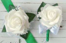Бутоньерка для свидетелей Зелень - подарок ручной работы на свадьбу Беларусь.