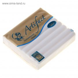 Полимерная глина 56г флуоресцентный Белый, 302, ARTIFACT Беларусь.