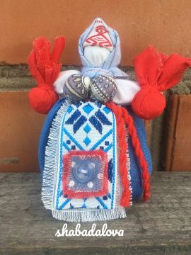 Народная кукла мотанка Травница в Stranamasterov.by Беларусь.