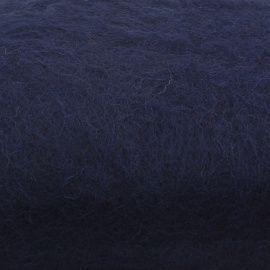 Кардочес для валяния и рукоделия, 100% полутонкая шерсть, 0107 тёмно-синий, 100гр Беларусь.