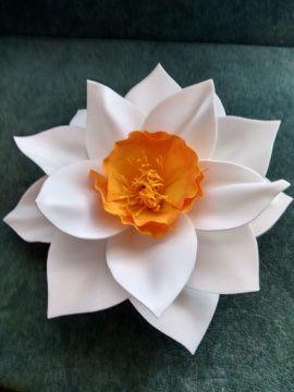 Цветок для декора Белый нарцисс в Stranamasterov.by Беларусь.