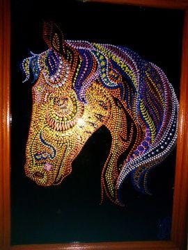 Картина на стекле Лошадь в Stranamasterov.by Беларусь.
