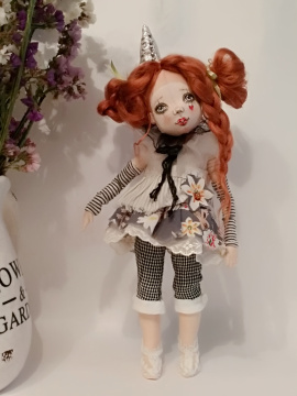 Авторская кукла Клоунесса Марта в Stranamasterov.by Беларусь.