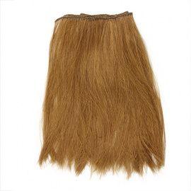 Волосы прямые трессы для игрушек 25-28см, L=47-50см (тёмно-русый), ВА-00024729 Беларусь.