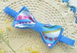 Галстук-бабочка Ярко-синяя в цветочек в Stranamasterov.by Беларусь.