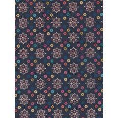 Бумага для декопатча, 30*40см 704 восьмиуголники из точек, DECOPATCH Россия.