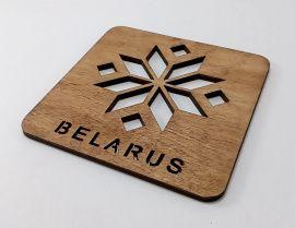 Подставка под горячее Belarus (квадратная) в Stranamasterov.by Беларусь.