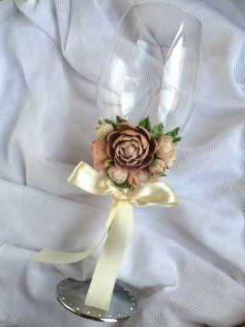 Декор для бокалов Взаимность - подарок ручной работы на свадьбу Беларусь.