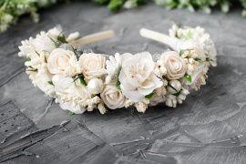 Ободок из цветов Свадебный ободок невесты в Stranamasterov.by Беларусь.