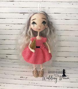 Вязаная крючком кукла Мила в Stranamasterov.by Беларусь.