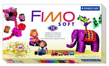 Набор запекаемой полимерной глины SOFT 10 цветов по 25гр 8023-10P, FIMO