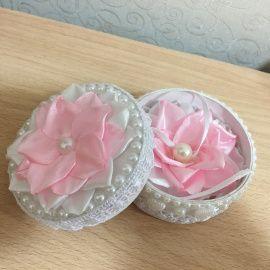Шкатулка Для колец - подарок ручной работы на свадьбу Беларусь.