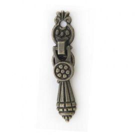 Ручка декоративная для шкатулок 11*52мм, 2шт бронза Россия.