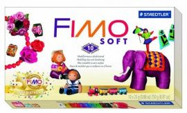 Набор запекаемой полимерной глины SOFT 10 цветов по 25гр 8023-10P, FIMO Беларусь.