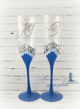 Бокалы Королевские - подарок ручной работы на свадьбу Беларусь.
