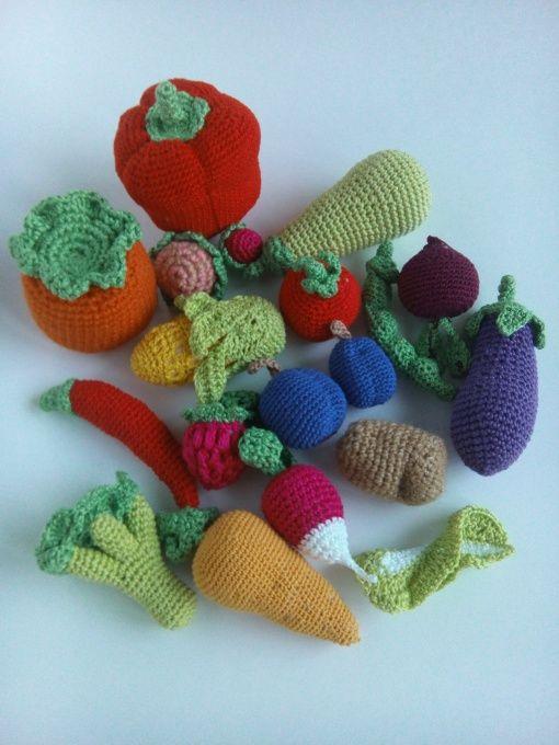 Вязаная игрушка Овощное, ягодное ассорти в Stranamasterov.by