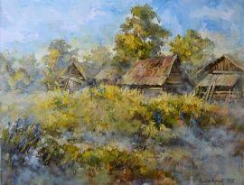 Пейзаж Туманное утро в Stranamasterov.by Беларусь.