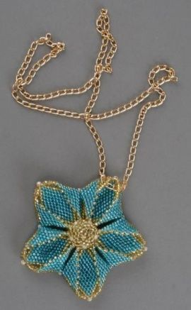 Кулон Голубой цветок в Stranamasterov.by Беларусь.