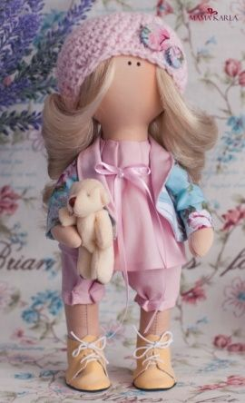 Интерьерная текстильная кукла Лейла в Stranamasterov.by Беларусь.