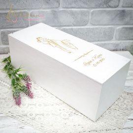 Короб для вина Свадебный - подарок ручной работы на свадьбу Беларусь.