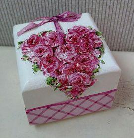 Коробочка для колец Любимой - подарок ручной работы на свадьбу Беларусь.