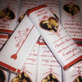 Бонбоньерки Именные Сладкая парочка - подарок ручной работы на свадьбу Россия.