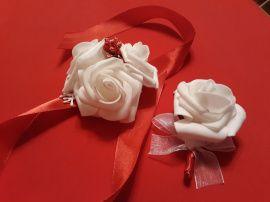 Бутоньерки свидетелям - подарок ручной работы на свадьбу Беларусь.
