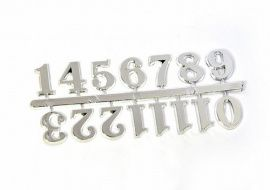 Цифры арабские 15мм (малые), пластик, цв. серебро 23731 Россия.