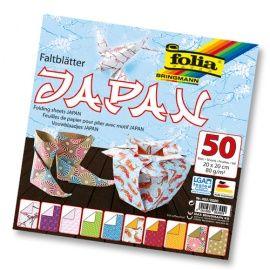 """Бумага для оригами """"Япония"""", 80г/м2, 20*20см, 50 л. (492/2020) Folia Беларусь."""