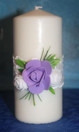Свеча свадебная Свеча - подарок ручной работы на свадьбу Беларусь.