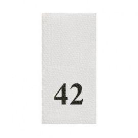 Этикетка-размерник, белый, 10*20мм, упаковка 100шт, 42 Россия.