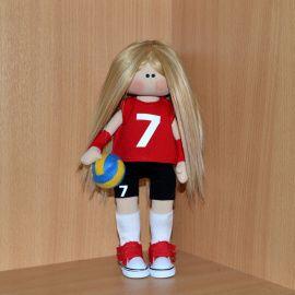 Интерьерная кукла Спортсменка в Stranamasterov.by Беларусь.