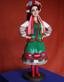 Авторская кукла Украиночка Ганна в Stranamasterov.by Беларусь.