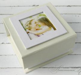 Коробочка для флэшки Sweet box - подарок ручной работы на свадьбу Беларусь.