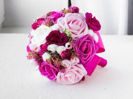 Букет дублер на свадьбу Свадебный букет из роз - подарок ручной работы на свадьбу Беларусь.